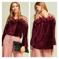The Mistletoe Velvet Top