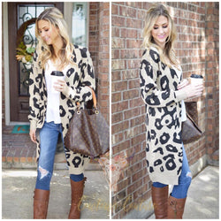 Long Leopard Cardigan