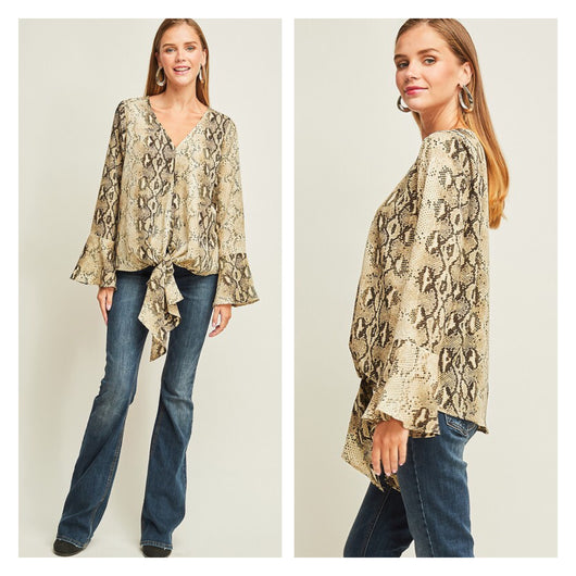 The Most Gorgeous Snakeskin Print Top