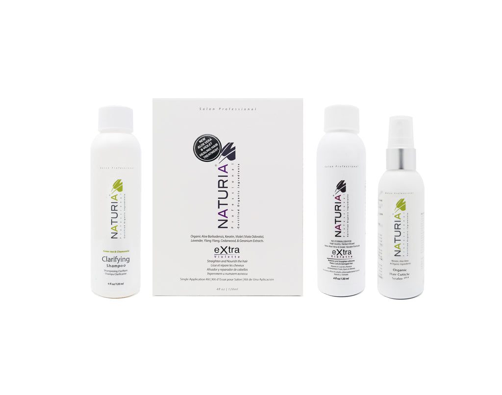 Organic Botox eXtra Violette Smoothing Hair Treatment Tryout Kit By Naturia