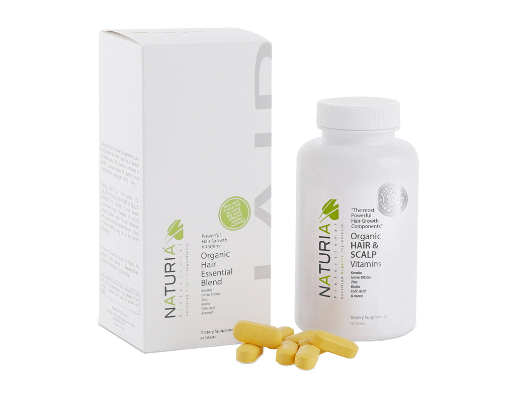 Organic Hair & Scalp Vitamins by Naturia Professional