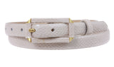 Ladies Snake Print Non leather Skinny Belt