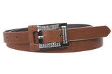 "Women's 3/4"" Rhinestone Skinny Non Leather Belt"