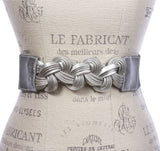 Womens 2 3/8'' High Waist Braided Stretch Belt