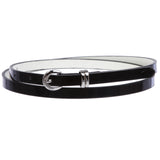 "1/2"" inch Patent Leather Skinny Belt"