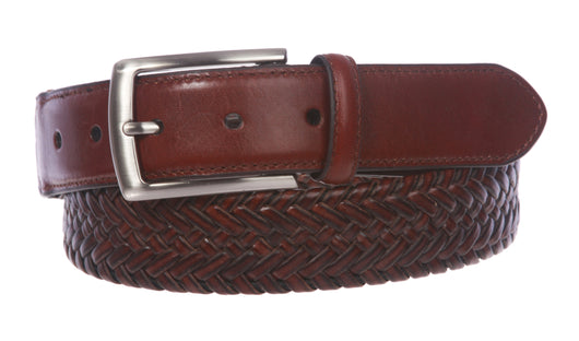 Men's Comfort Stretch Braided Leather Belt