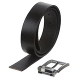 Men's or Women's 1 1/4 Inch (33mm) Clamp On Nickel Free Cut-to-Fit Top Grain Cowhide Plain Leather Belt