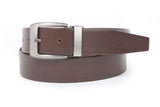 Men's 1 1/4 Inch (34 mm) Top Grain Cowhide Plain Leather Belt with Clamp Buckle