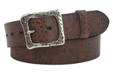 "Snap On 1 1/2"" Soft Hand Vintage Genuine Cowhide Full Grain Leather Casual Belt"