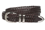 Men's 1 1/8 Inch (30 mm) Braided Leather Dress Belt