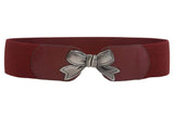 "3"" Wide High Waist Bow Tie Fashion Stretch Belt"