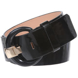"2"" Wide High Waist Patent Leather Fashion Round Belt"