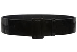 "Women's 2 1/4"" Wide High Waist Pull-Through Prong-less Patent Leather Belt"