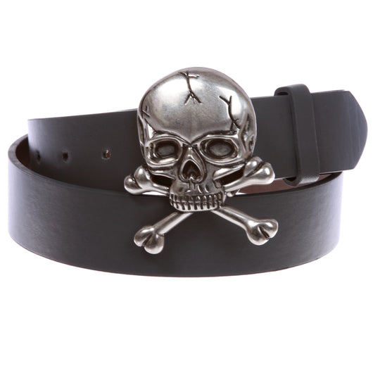 Skull and Cross Bone Pirate Halloween Costume Belt Multi-Color Options