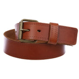 "1 3/4"" Snap on Classic Vintage Cowhide Thick Leather Casual Jean Belt"