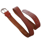 Men's Harness Stitch Linked Vintage Full Grain Thick Leather Casual Jean Belt