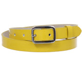 "3/4"" (19 mm) Womens Skinny Patent Non Leather Fashion Dress Belt"