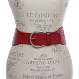 "3"" Inch High Waist  Stretch With Perforated Flower Designed Belt"