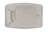 Rectangular Hammered Plain Belt Buckle