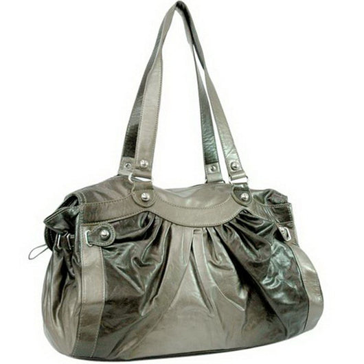Two Tone Leather look like Shoulder Bag