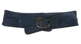 "Women's 3 1/2"" Wide Contour Studded Leather Belt"