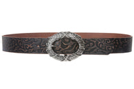 40mm Soft Hand Embossed Vintage Genuine Leather Belt