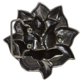 Western 3D Rose Floral Belt Buckle