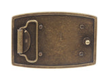 Rectangular Antique Vintage Hammered Plain Belt Buckle