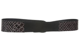 "2"" Elastic Belt with Alligator Patent Boa Tabs& Gunmetal Hook Buckle"