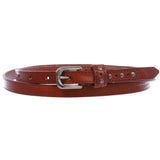 "Women's 1/2"" (13 mm) Skinny Edge Stitch Casual / Dress Leather Belt"