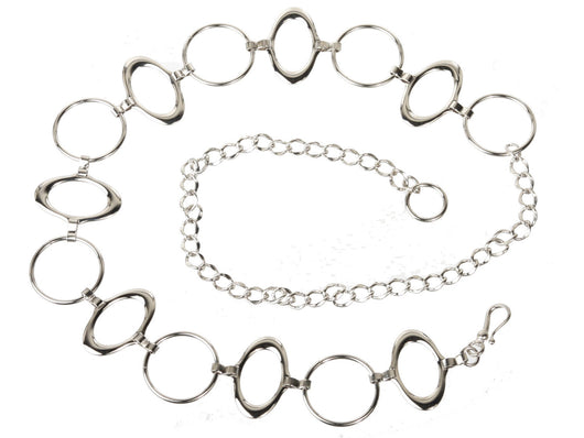One Size Fits All Oval Metal Chain Belt