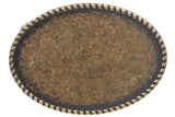 Western Plain Oval Hammered Vintage Belt Buckle
