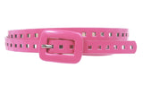 5/8 Inch Wide Patent Skinny Leather Belt