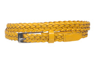 Woman's 5/8 Inch skinny Braided Leather Belt