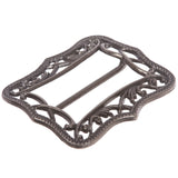 "2 3/8"" (60 mm) Rectangular Perforated Center Bar Prongless Belt Buckle"