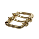 "2""(50mm) Gold Stainless Steel Double Prong Heavy Duty Roller Buckle"