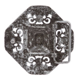 "1 1/2"" (38 mm) Western Engraving Hollow Out Perforated Floral Octagonal Rhombic Square Belt Buckle"