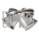 "1 1/4"" (32mm) Merry Christmas Jingle Bell Ribbon Bow Knot Engraving Perforated Belt Buckle"