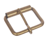 "1 3/4"" (45 mm) Single Prong Antique Brass or Silver Roller Belt Buckle"