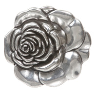 Rose Flower 3D Silver Belt Buckle