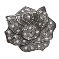 Rhinestone Rose Flower Belt Buckle