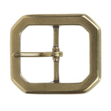 "1 5/8"" (40 mm) Nickel Free Center Bar Single Prong Octagon Belt Buckle"