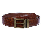 "Men's Clamp on Buckle 1 1/4"" (34 mm) Reversible Leather Belt"
