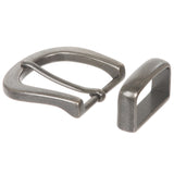"1 1/4"" (32 mm) Nickel Free Single Prong Horseshoe Belt Buckle Set"