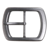 "1 3/4"" (44 mm) Nickel Free Center Bar Single Prong Oval Belt Buckle"