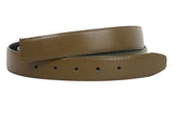 1 1/8 Inch One Size Fits All Feather Edged Plain Faux Leather Belt Strap