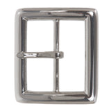 "1 5/8"" (42 mm) Nickel Free Single Prong Center Bar Square Belt Buckle"