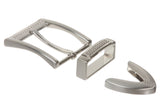 "1 1/4"" (33 mm) Nickel Free Single Prong Rectangular Golf Belt Buckle Set with Keeper and Tip"