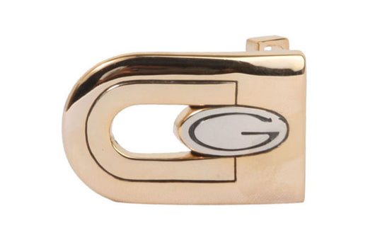 1 1/8 Inch (28 mm) Gold & Silver Two Tones Clamp Belt Buckle