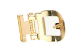 1 1/8 Inch (28 mm) Gold Clamp Belt Buckle